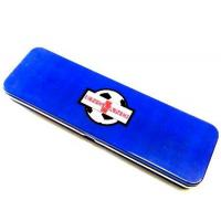 Buy cheap Blue Metal Pencil Tin Box Rectangle Stationary Case For Office , 0.23mm Tinplate from wholesalers
