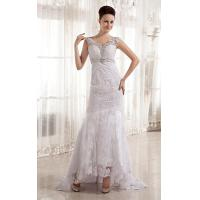 Buy cheap Beaded Deep V Neck A Line Romantic Lace Wedding Gowns for Young Girls from wholesalers