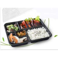 Buy cheap L27* W21mm Disposable Lunch Trays 1200ml 5 Compartments Anti Water from wholesalers