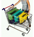 Buy cheap Supermarket reusable shopping bag for trolley foldable reusable shopping bag trolley from wholesalers