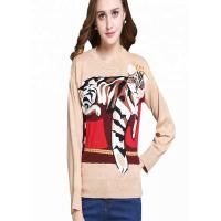 Buy cheap New Design Wool Sweater Womens Intarsia Wool Tiger Knitting Patterns For Autumn from wholesalers