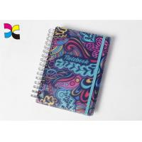 Buy cheap A6 Spiral Notebook Printing Colorful Round Corners PVC With Elastic Band from wholesalers