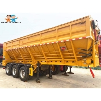 Buy cheap 3 Axles 50 Tons With FUWA Brand Axles Crawler Dump Truck Semi - Trailer Export To Southeast Asia and other countries from wholesalers
