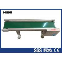 High Stability Rubber Conveyor Belt , Motor Industrial Green PVC Belt Conveyor