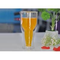 Buy cheap 12 fl.oz 350ml Creative Double Wall Heat Isolated Glass Beer Tea Mug Cup from wholesalers