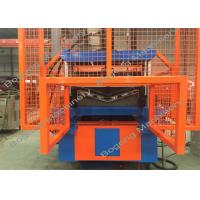 China PLC Control Roof Ridge Cap Roll Forming Machine With 5.5KW Drive Motor on sale