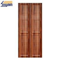High density mdf louvered closet doors wood grain with