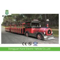 Buy cheap 42 Seater Mini Trackless Train With Metal Structure Beam 76 KW Rated Power Petrol Engine from wholesalers