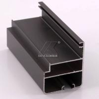 Buy cheap OEM Extruded Aluminum Profiles , Window Aluminum Profile Black Powder Coating from wholesalers