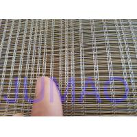 Buy cheap 2000mm Width Glass Laminated Brass Woven Metal Wire Mesh Fabric For Art Design product