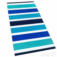 Buy cheap 100% Cotton Soft Terry Velour Printed Stripes Beach and Pool Towel from wholesalers