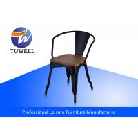 Buy cheap Fully Assembled Strong Marais Metal Tolix Chairs With wooden Seat Stackable from wholesalers