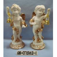 Beautiful Polyresin Cartoon Cupid Figurine With Lanterns For Home Decoration