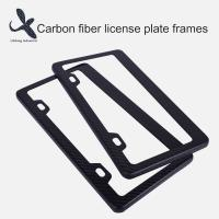 Buy cheap Custom Designs Hot Selling USA Canada Style two holes Carbon Fiber License  Plate Frame Wholesale from wholesalers