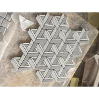 Buy cheap Hot sale White&Grey marble Mosaic wall tile for Backsplash,Kitchen,bathroom,shower from wholesalers