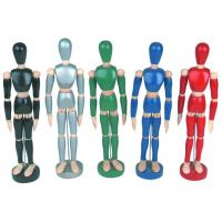 Buy cheap Life - Sized Wooden Drawing Figure Model , Colourful Flexible Poseable Art Mannequin from wholesalers