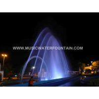Buy cheap Cast Iron Outdoor Water Fountain , Outdoor Lighted Water Fountains  With Dancing Music System from wholesalers