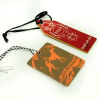 Buy cheap Colorful Craft Paper Hang Tags With String For Clothing , Fashion Business Hang Tags from wholesalers