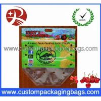 China Clear Plastic Fruit Packaging Slider Zipper Bags , Apple / Grape Bag on sale