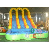 Buy cheap New Arrive Inflatable Arch Bridge Water Slide Inflatable With Double Slide For Fun from wholesalers