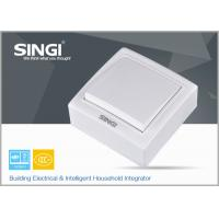Buy cheap Single gang 1 / 2 way  white Wall Switch Socket , modern light switches from wholesalers