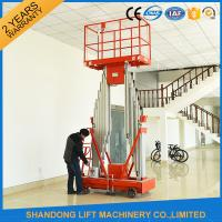 Buy cheap 200kg Capacity 12m Height Hydraulic Aluminium Ladder Aerial Work Platform Lift With CE from wholesalers