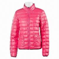Buy cheap Women's Down/Outdoor/Winter Jacket, PU White Coating from wholesalers