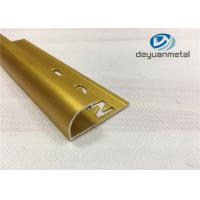 Buy cheap Polishing Golden Aluminium Floor Strips / Aluminium Tile Trim Flooring Accessories from wholesalers