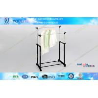 Buy cheap Double Rail Adjustable Telescopic Rolling Clothes Rack Simple for Bedroom from wholesalers