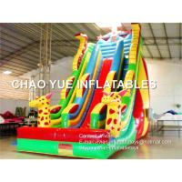 Buy cheap Colorful Spider Man Inflatable Commercial Water Slides Funny Giraffe Shaped For Park from wholesalers