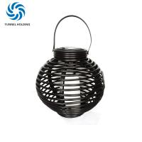 Buy cheap Porch Solar Powered Garden Lanterns , 3500K - 4200K Patio LED Solar Rattan Lamp from wholesalers