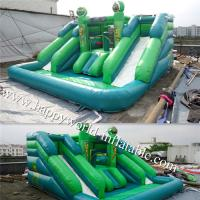 Buy cheap inflatable water slide with pool , inflatable castle slide , inflatable vagina slide from wholesalers