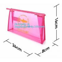 Buy cheap grip slider bags, Stand Up Cosmetic Pouch with Slider Zipper Closure, PVC HEAT SEALED BAG WITH SLIDER ZIPPER from wholesalers