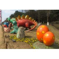 Buy cheap Silicon Ruber Outdoor Playground Fiberglass Dinosaurs Colors Diversified from wholesalers