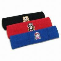 Buy cheap Sport Headbands/Sweatbands, Made of Cotton, Customized Sizes are Accepted product