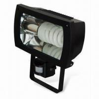 Buy cheap Plastic Energy-saving Floodlight with PIR Sensor and IP44 Protection Grade from wholesalers