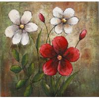 Buy cheap hand painted canvas oil paintings flowers modern art high quality paintings home decor art from wholesalers