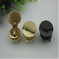 Buy cheap Most popular novelty design round shape light gold bag hardware twist turn locks for leather from wholesalers