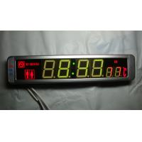 Buy cheap Electronic Bus part Bus and coach digital clock showing logo time indoor temperature product