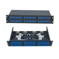 Buy cheap 48 ports Rack-Mount  19'' 2U Fiber Optic Patch Panel for SC/UPC adapter terminal box black cold-roll steel sheet from wholesalers
