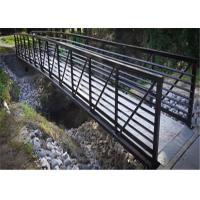 Buy cheap Pre Assembled Prefabricated Steel Pedestrian Bridges / Metal Pedestrian Bridge Anti Seismic from wholesalers
