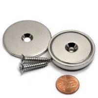 Buy cheap Kellin Neodymium Pot Neodymium Disc Countersunk Hole Magnets Strong Permanent Rare Earth Magnet With Screws for  Crafts from wholesalers