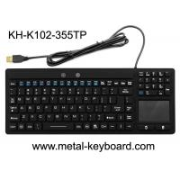 Buy cheap Waterproof USB Interface Industrial PC Keyboard 108 Keys No Noise With Touchpad from wholesalers