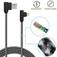 Buy cheap 2.4A Nylon Braided USB Dual Charging Cable Cord For IPhone from wholesalers