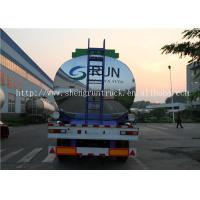 Buy cheap 42 Cubic meters aluminum alloy transport fuel tanker semi trailer with 3 axles from wholesalers