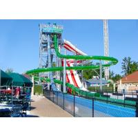 High Speed Spiral Water Slide Galvanized Steel Support Fiberglass Flume