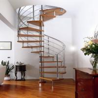 Buy cheap Modern Stainless Steel Spiral Staircase Indoor Decorative Wood Spiral Staircase For Small Space from wholesalers