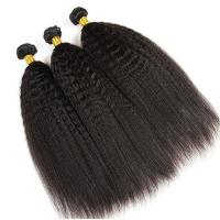 Buy cheap 100% Virgin Remy Human Hair Extensions Natural Color No Tangle Kinky Straight from wholesalers