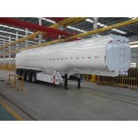 Buy cheap 35 Ton 42m³ Stainless Steel Jet Crude Oil Tanker / Fuel Tank Trailer from wholesalers