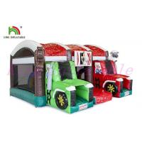 Buy cheap Attractive  Farm Theme PVC Blow Up Bouncy Tractor / Childrens Bouncy Castle from wholesalers
